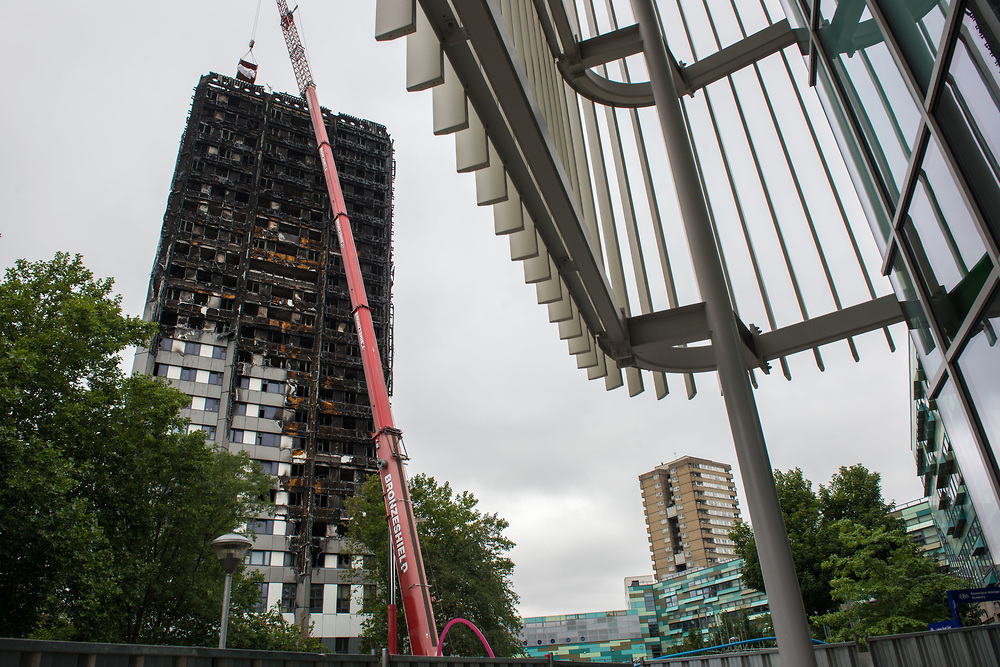 London, 08/08/2017: Grenfell Tower, North Kensigton.© Andrea Sabbadini