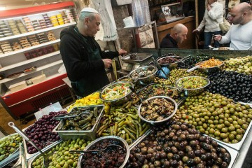 Street food market a Gerusalemme