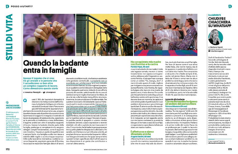 Andrea Sabbadini su DONNA MODERNA