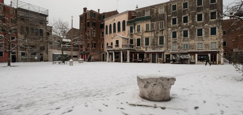 Venezia sotto la neve