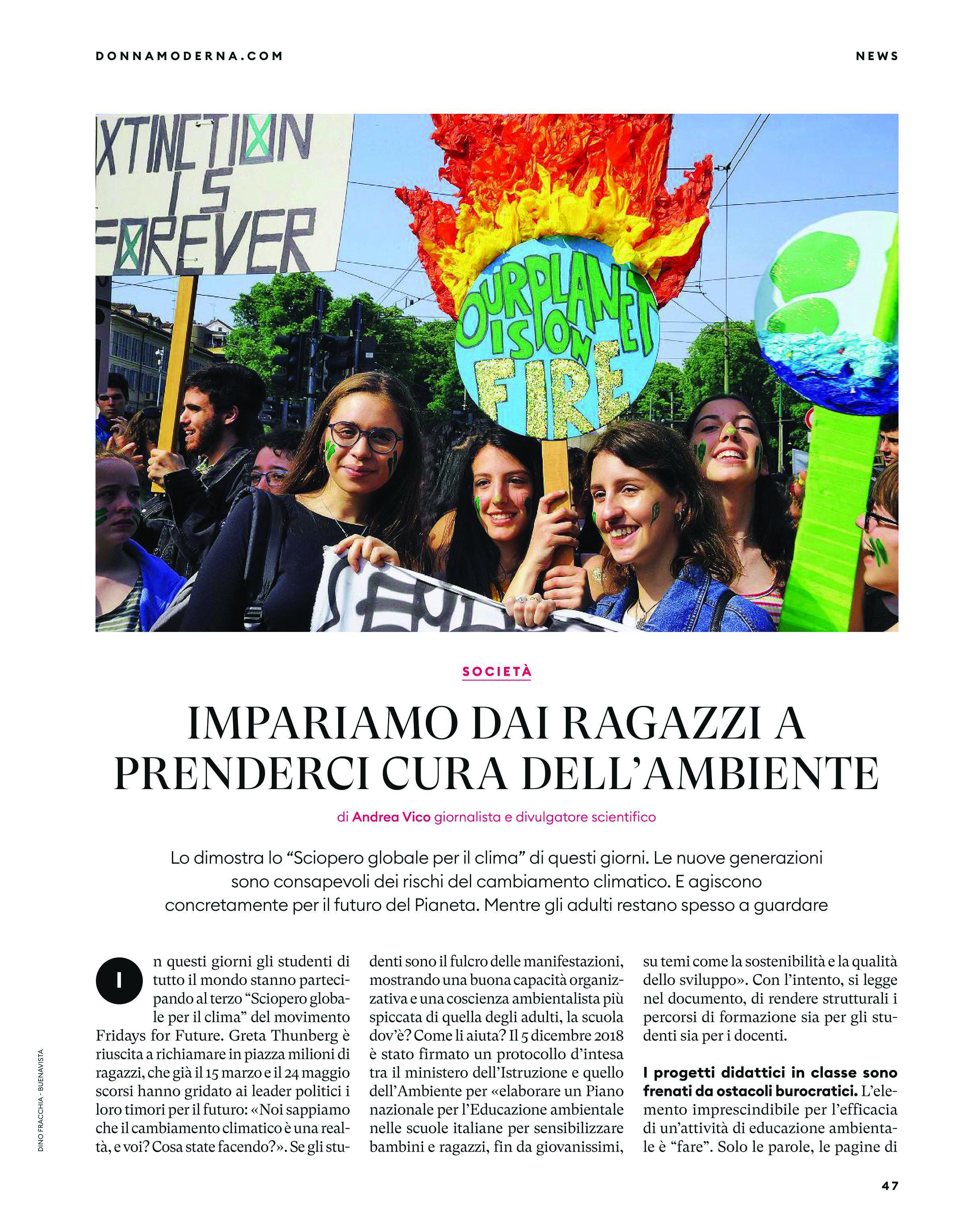 Dino Fracchia su DONNA MODERNA