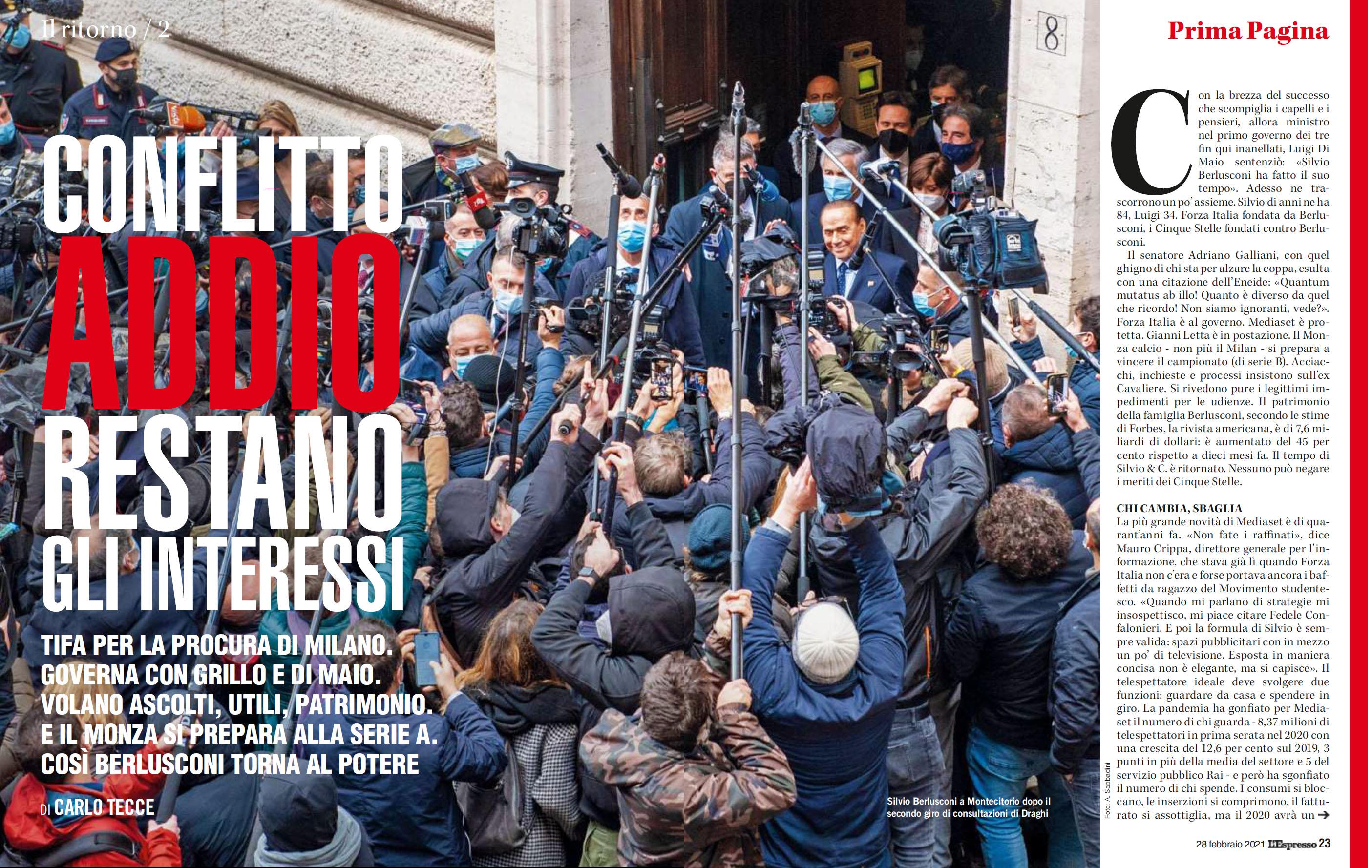 Andrea Sabbadini su L'ESPRESSO