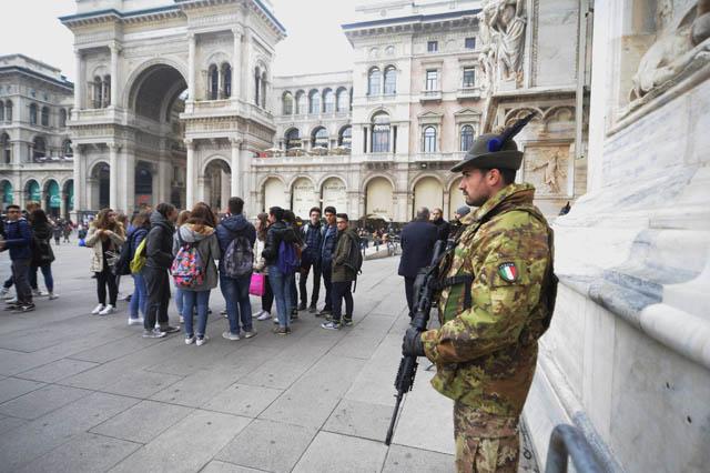 Sicurezza antiterrorismo a Milano