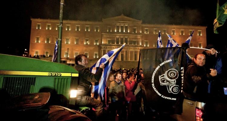 Atene, la protesta degli agricoltori