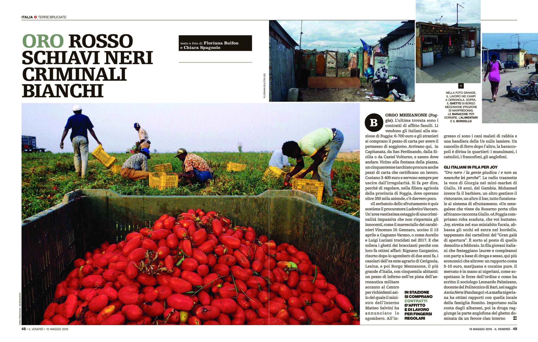 Dino Fracchia su VENERDI' DI REPUBBLICA