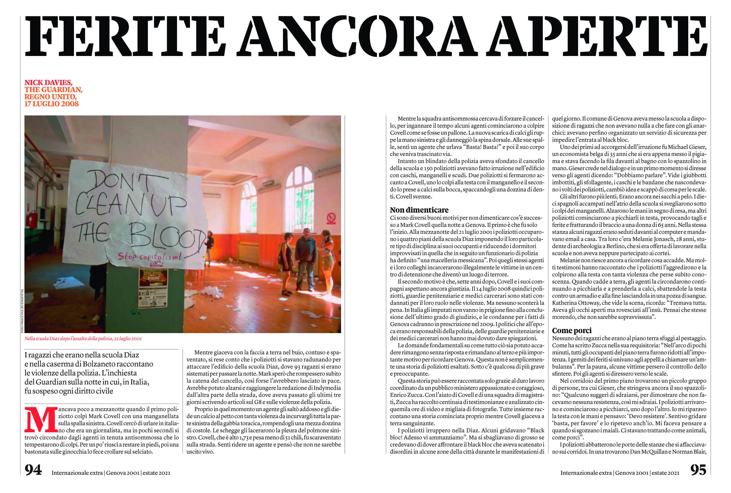 Dino Fracchia su INTERNAZIONALE