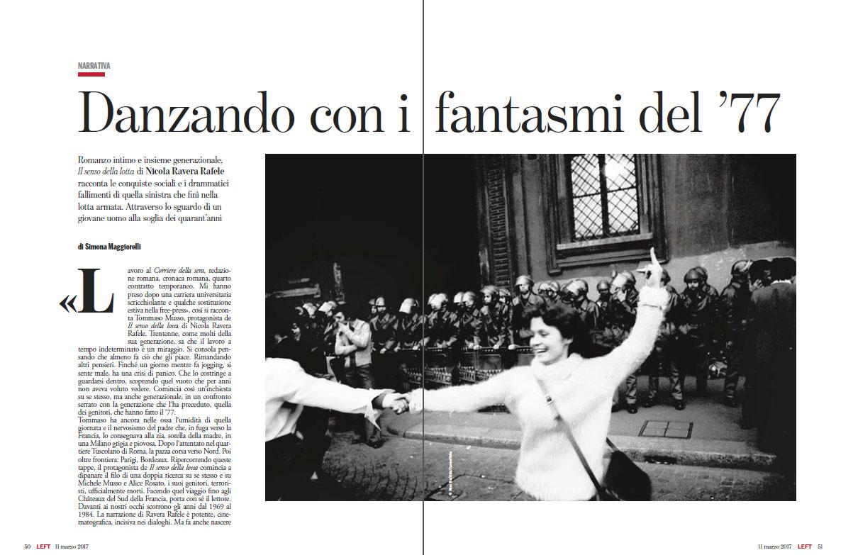 Dino Fracchia su LEFT marzo 2017