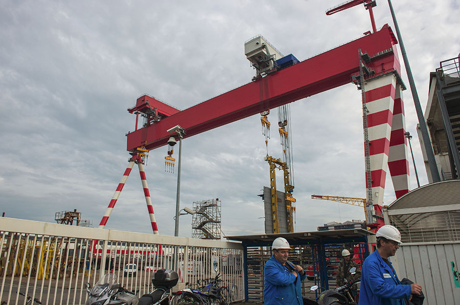 Saint Nazaire, 29/10/2014: STX Cantieri Navali - Shipyard