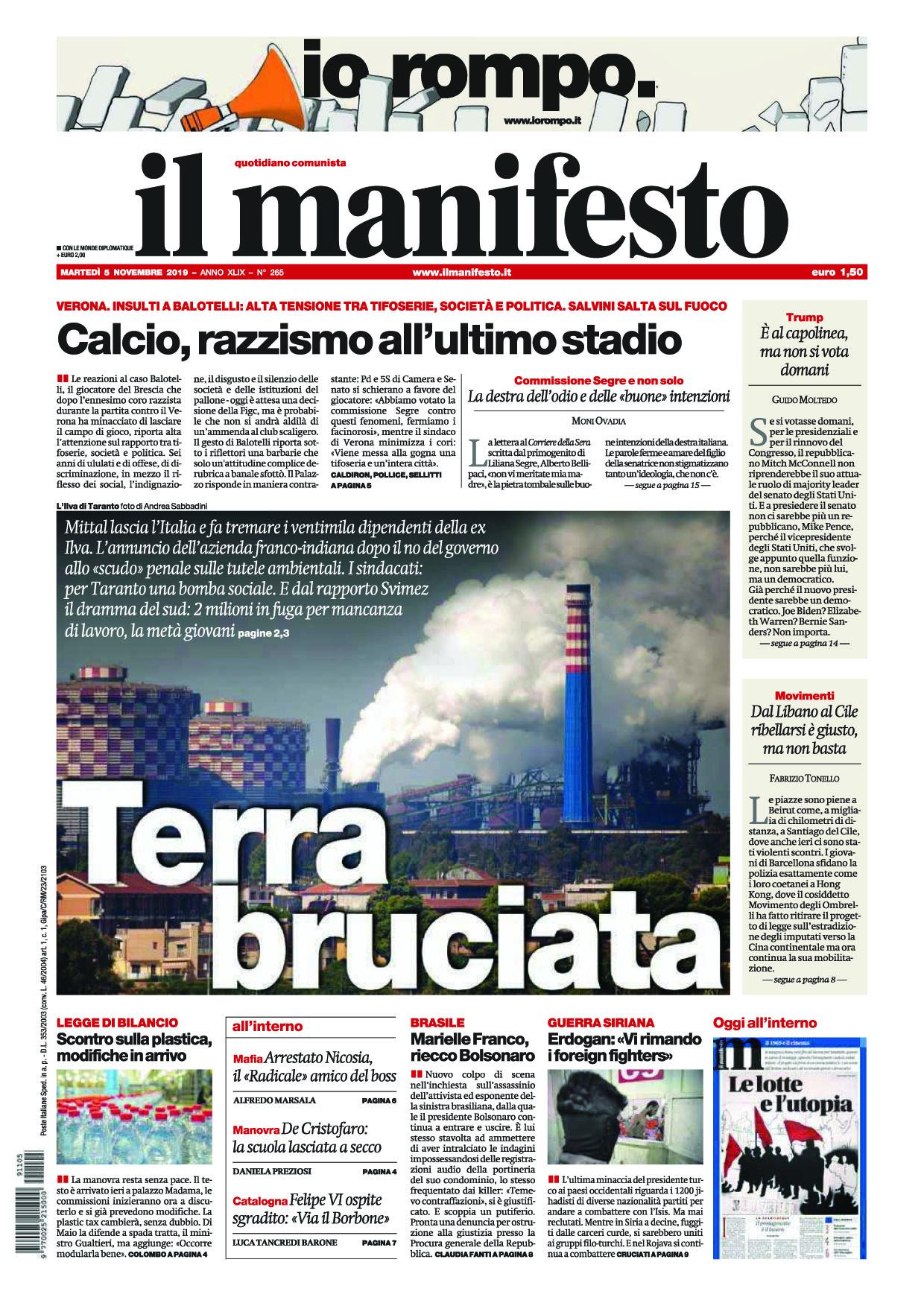 Andrea Sabbadini su IL MANIFESTO
