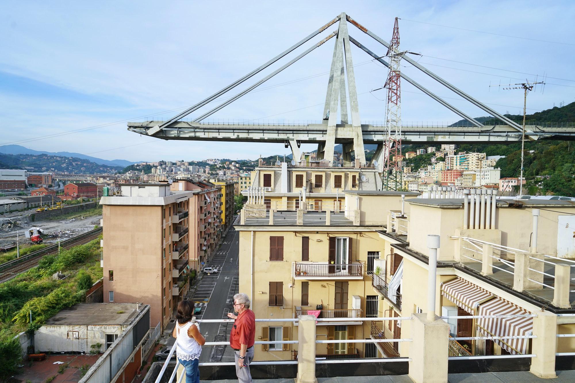 Genova, Ponte Morandi settembre 2018